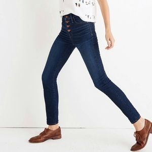 """Madewell 9"""" High Rise Skinny Button Front Jean 24P"""
